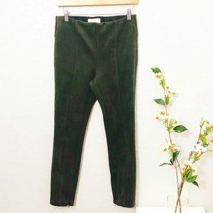 Anthropologie olive green leggings pants size 28
